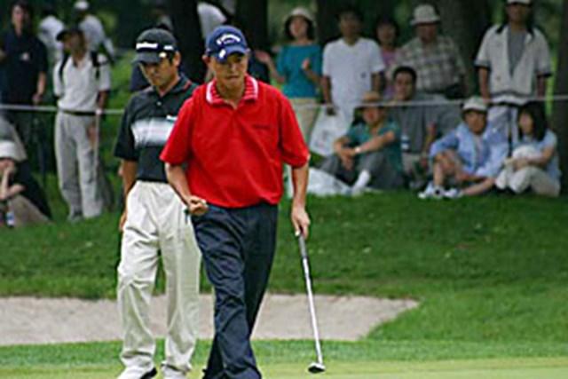 2002年 日本ゴルフツアー選手権イーヤマカップ 3日目 谷口徹 谷口徹 8番でバーディ
