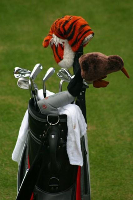 2002年 ダンロップフェニックストーナメント 事前情報  ちょっと見づらいけど、ナイキの刻印が見えるだろうか。これが今回タイガーが使用するクラブだ。