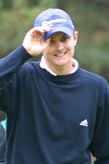 2002年 ダンロップフェニックストーナメント 2日目 ジャスティン・ローズ ボクのさわやかな笑顔が見たい!?メディアの皆さん、もっとボクに注目してくださいね。