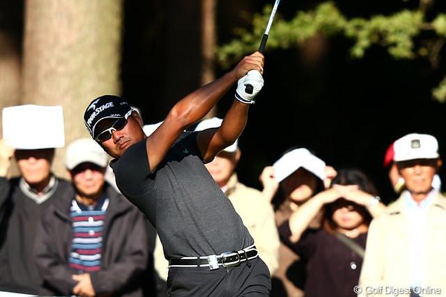 2012年 ブリヂストンオープンゴルフトーナメント 2日目 宮里優作 2日目のベストスコア「66」でラウンドし首位タイに浮上した宮里優作