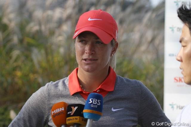 2012年 LPGAハナバンク選手権 初日 スーザン・ペターセン 9アンダーの好発進を見せたペターセン。世界ランクは9位まで後退。久々の優勝なるか?