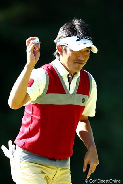 2012年 ブリヂストンオープンゴルフトーナメント 2日目 山下和宏 単独のトップに立つも終盤でスコアを落とし5アンダー4位タイ