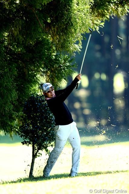 2012年 ブリヂストンオープンゴルフトーナメント 2日目 川村昌弘 今日は74をたたき、22位タイまで順位を落としてしまった