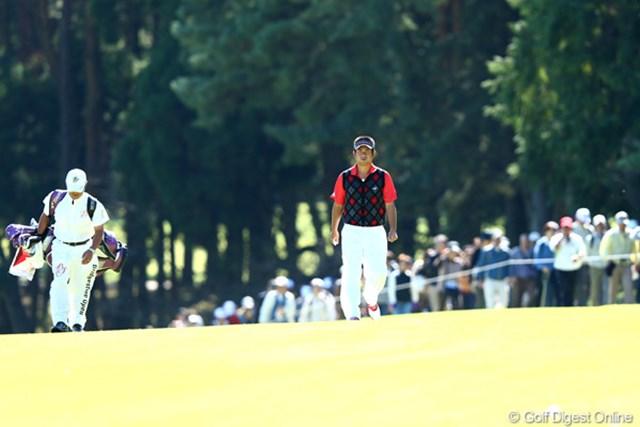 2012年 ブリヂストンオープンゴルフトーナメント 2日目 池田勇太 ギャラリーもこんなにたくさん応援してくれてるよ、ガンバ