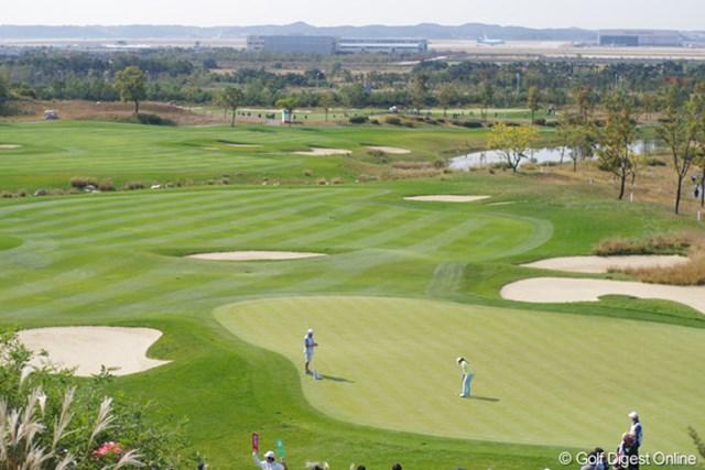 2012年 LPGAハナバンク選手権 初日 コース この規模感、伝わりますか?72ホールもあるゴルフ場です