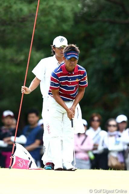 2012年 ブリヂストンオープンゴルフトーナメント 3日目 藤田寛之 3日間首位をキープする藤田寛之が今季4勝目を目指す