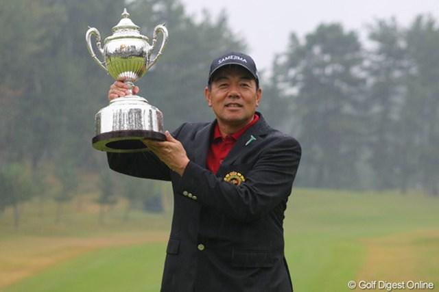 2012年 日本シニアオープンゴルフ選手権競技 事前情報 室田淳 昨年はレギュラーツアーも掛け持ちする室田淳が悲願の日本タイトルを手にした。