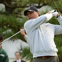 メジャータイトルを狙い単独首位スタートを切ったF.ミノザ(提供:日本ゴルフ協会) 2012年 日本シニアオープンゴルフ選手権競技 初日 フランキー・ミノザ