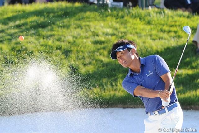 2012年 マイナビABCチャンピオンシップゴルフトーナメント 2日目 宮本勝昌 5バーディ、1ボギーでキョンキョンに食らいついておりま~す。大和魂で首位と3打差の2位は日本人トップやでェ~!