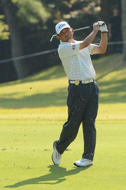 2012年 日本シニアオープンゴルフ選手権競技 3日目 中嶋常幸 『68』のナイスラウンドも、「『66』のイメージでスタートしたんだけど(笑)」と中嶋。(提供:日本ゴルフ協会)