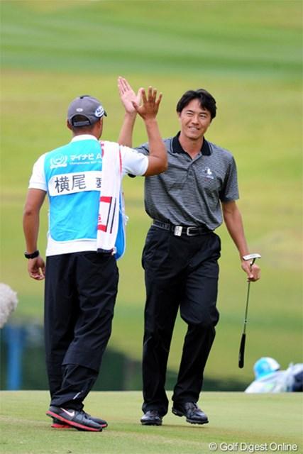 2012年 マイナビABCチャンピオンシップゴルフトーナメント 最終日 横尾要 最終18番でイーグルを奪い3位タイに食い込んだ横尾要