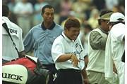 2002年 メモリアルトーナメント 2日目 タイガー・ウッズ 丸山茂樹
