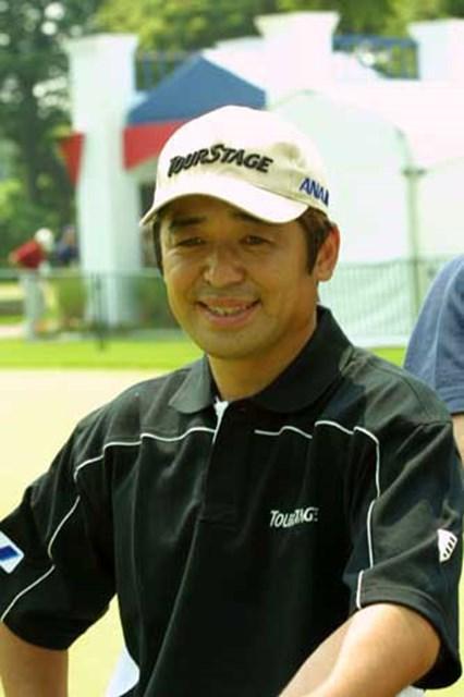 2002年 全米オープン 事前情報 伊沢利光 練習を終えた伊沢利光
