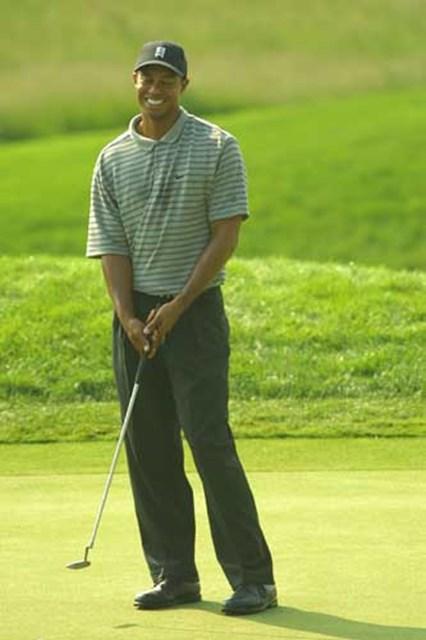 2002年 全米オープン 事前情報 タイガー・ウッズ 終始笑顔のT.ウッズ