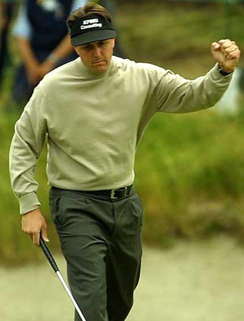 2002年 全米オープン 3日目 フィル・ミケルソン 連続バーディのP.ミケルソン