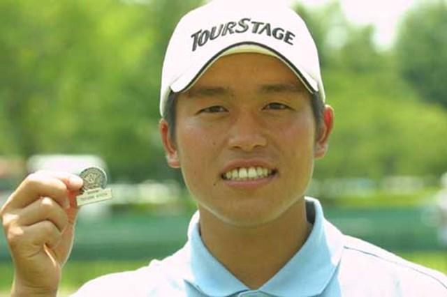 2002年 全米オープン 事前情報 清田太一郎 手に持っているのはプレーヤーズバッジ