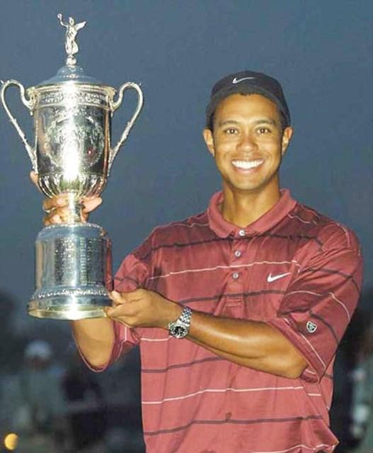2002年 全米オープン 最終日 タイガー・ウッズ 今大会唯一のアンダーパーで回り、メジャー2連勝をあげたタイガー・ウッズ