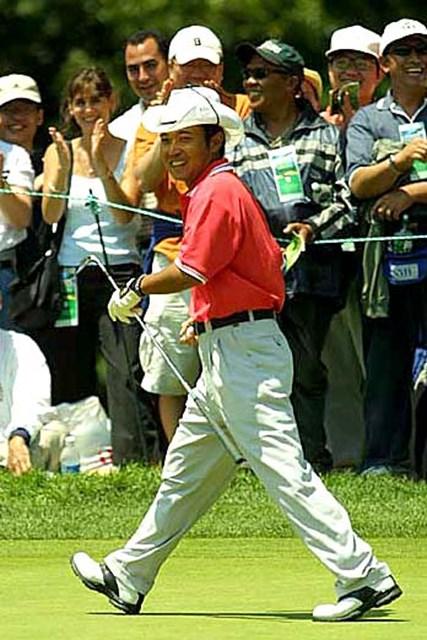 2002年 全米オープン 最終日 片山晋呉 アメリカでの人気が着実に上がってきている片山晋呉