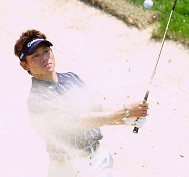 2002年 キヤノン・グレーターハートフォードオープン 2日目 田中秀道 6位で踏ん張る田中秀道