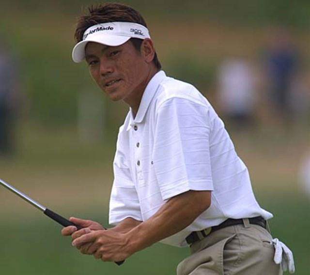 2002年 キヤノン・グレーターハートフォードオープン 3日目 田中秀道 田中も好位置をキープしている