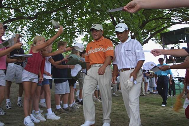 2002年 全米プロゴルフ選手権 事前情報 丸山茂樹 伊沢利光 人気の丸山&伊沢。日本人選手の人気と注目度は高い