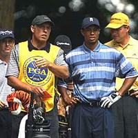 メジャー勝者揃い踏み 2002年 全米プロゴルフ選手権 初日 タイガー・ウッズ アーニー・エルス デビッド・トムズ