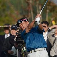 「グリーンが合うかどうか、スピードを把握できるかどうか」と、コース攻略のキーはパッティングだと話す東 2012年 富士フイルムシニアチャンピオンシップ 初日 東聡