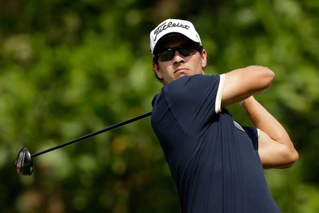 2012年 WGC HSBCチャンピオンズ 初日 アダム・スコット 7アンダーをマークし初日首位タイスタートをきったアダム・スコット(Scott Halleran/Getty Images)