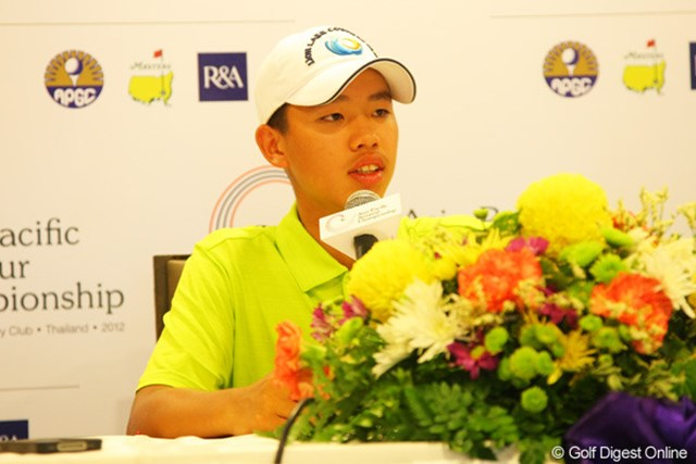 2012年 アジアパシフィックアマチュア選手権 初日 グァン・ティンラン 初日単独首位発進を決めた中国の14歳、グァン・ティンラン