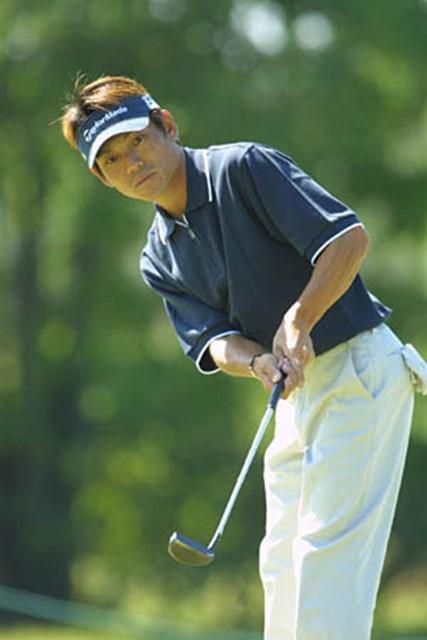 2002年 ウォルトディズニーワールドリゾート・ゴルフクラシック 初日 田中秀道 パッティングは冴えていたが、3パットがもったいなかった!