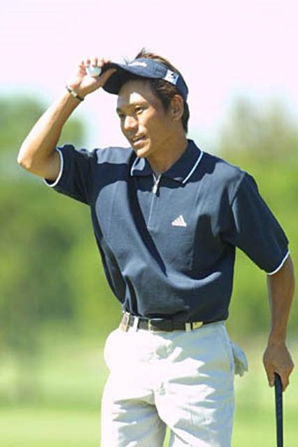 2002年 ウォルトディズニーワールドリゾート・ゴルフクラシック 初日 田中秀道 初日、早い時間にホールアウトした田中秀道