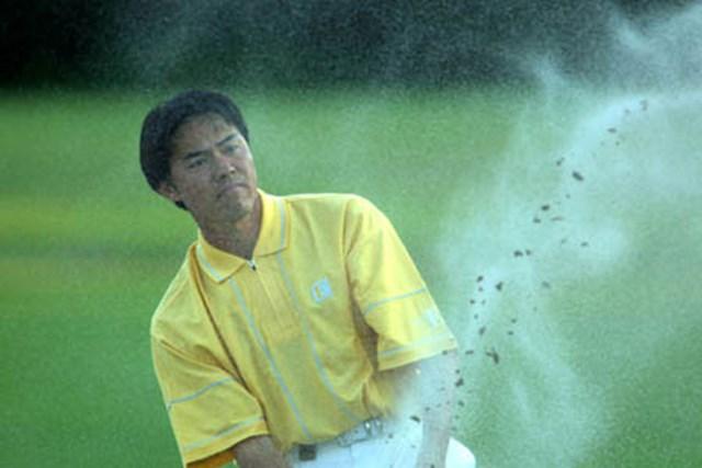 2002年 ウォルトディズニーワールドリゾート・ゴルフクラシック 2日目 横尾要 横尾もスコアを伸ばしたが、僅かに1打足りなかった。