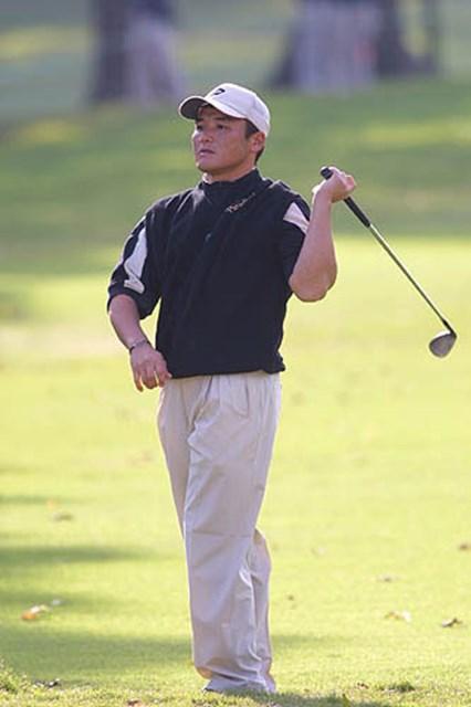 2002年 ザ・ツアー選手権 2日目 丸山茂樹 肩は大丈夫。でも体力が心配という丸山茂樹