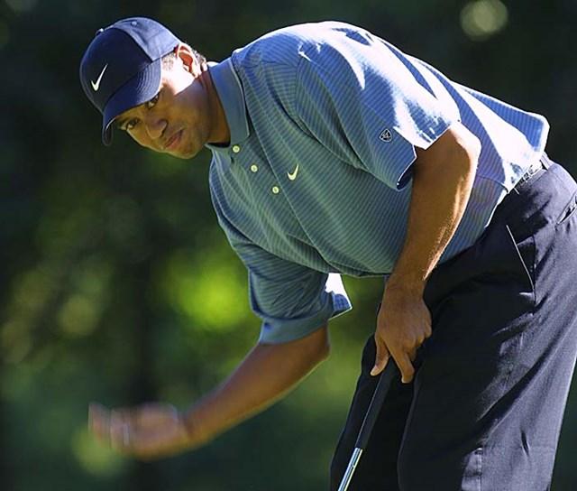 2002年 全米プロゴルフ選手権 3日目 タイガー・ウッズ バーディパットが決まってくれなかった・・・