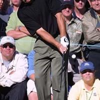 ファンクへのギャラリーの声援は、異常なくらい大きい。 2002年 全米プロゴルフ選手権 3日目 フレッド・ファンク