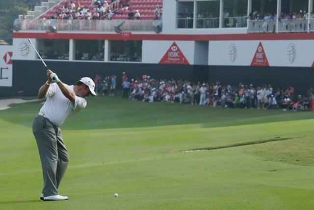 2012年 WGC HSBCチャンピオンズ 3日目 リー・ウェストウッド スコアを11伸ばして首位タイに浮上したリー・ウェストウッド(Scott Halleran/Getty Images)
