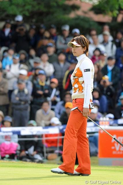 前半は小技でしのぎ優勝戦線に残っていた森田理香子だったが・・・