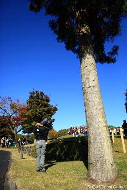 2012年 三井住友VISA太平洋マスターズ 3日目 片山晋呉 晋呉プロのロブショット…チョヨカッタ!