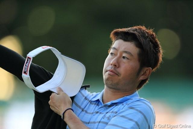 2012年 三井住友VISA太平洋マスターズ 3日目 松村道央 2010年シーズン以来の勝利へ、首位に1打差2位につけた松村道央。