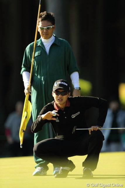 2012年 三井住友VISA太平洋マスターズ 3日目 キム・ドフン 抜群の飛距離よりも、ショートゲームこそが武器?キム・ドフンは1打差逆転で初勝利を狙う。