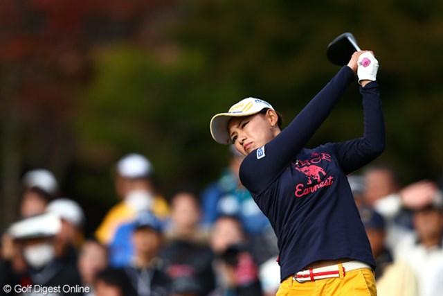 2012年 伊藤園レディスゴルフトーナメント 最終日 横峯さくら ショットが改善して6バーディを奪い、12位タイに食い込んだ横峯さくら