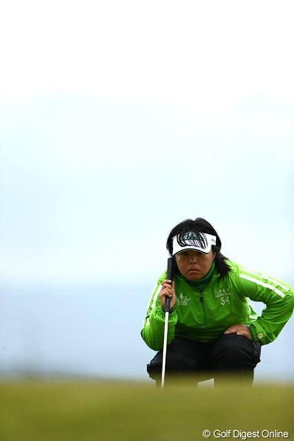 2012年 大王製紙エリエールレディスオープン 2日目 不動裕理 目線が鋭い貫録の女王、3アンダー5位タイ
