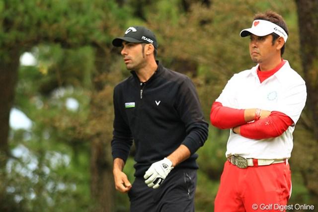 予選ラウンドは諸藤くん。今日は小山内さんと、日本を代表する飛ばし屋とラウンドした本家飛ばし屋のキロス。日本の飛ばし屋達はいかがでした?