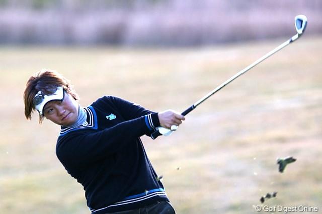 2012年 大王製紙エリエールレディスオープン 最終日 福田裕子 来年初シード獲得なった福田裕子。「このオフシーズンはすべての精度を上げていきたい」と来年へ向け抱負を語った