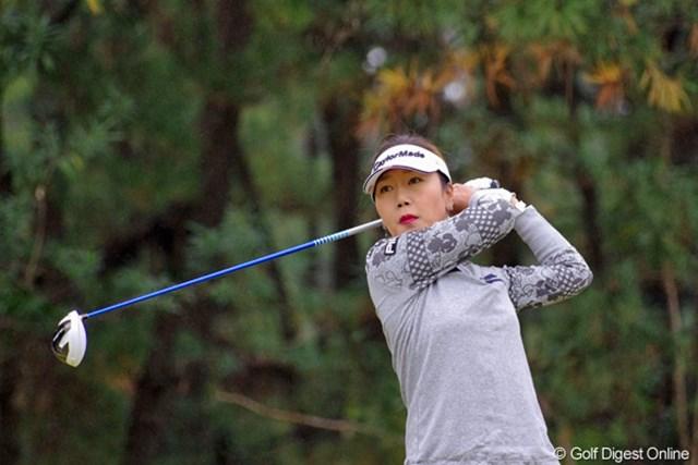 2012年 LPGAツアーチャンピオンシップリコーカップ 初日 カン・スーヨン スーヨン姐さんとも一昨日の鍋屋さんで一緒になりました。韓流勢何人かでカウンターに陣取っておられました。4位T