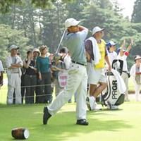 今年の招待選手はD.ゴセット 2002年 サントリーオープンアマプロチャリティトーナメント デビッド・ゴセット