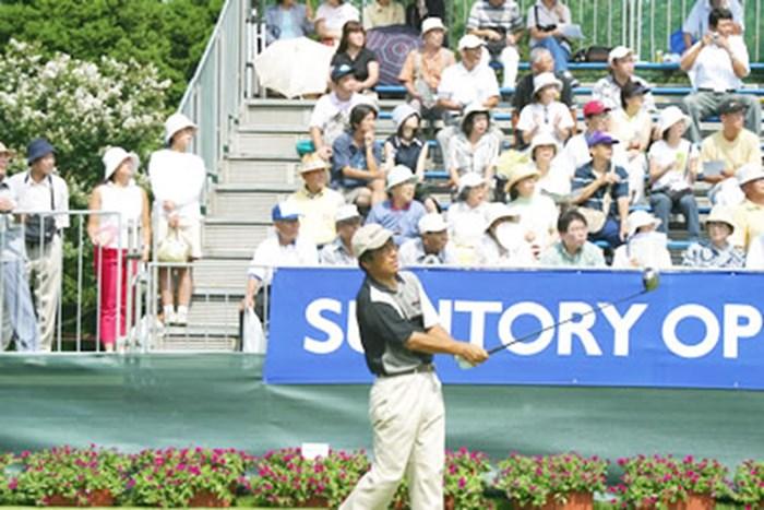 今季2勝目を目指す湯原信光 2002年 サントリーオープンアマプロチャリティトーナメント 湯原信光