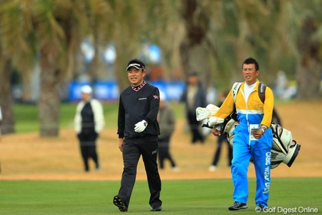 2012年 カシオワールドオープン 2日目 平塚哲二 ノーボギーのゴルフで5位タイへジャンプアップです。風の日に強いのは、アジアツアーの経験なのでしょうか?