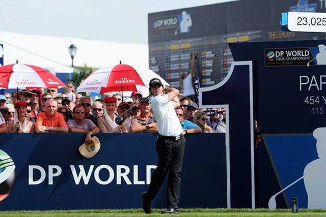 2012年 DPワールド ツアー選手権 ドバイ 2日目 ロリ-・マキロイ L.ドナルドに並び首位タイに浮上したロリ-・マキロイ(Andrew Redington/Getty Images)