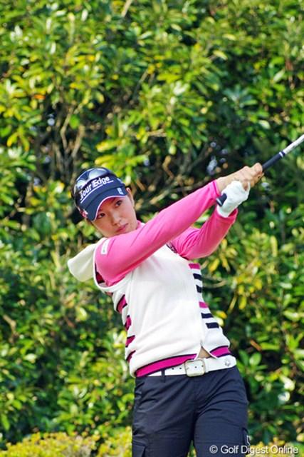 2012年 LPGAツアーチャンピオンシップリコーカップ 3日目 笠りつ子 今日のコンディションで1オーバーというのは、ホンマに強くなったという証拠やと思いますヨ。上には上がおるけど…。5位T